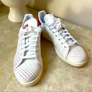 Adidas Stan Smith red suede/white leather 8.5 NWOB